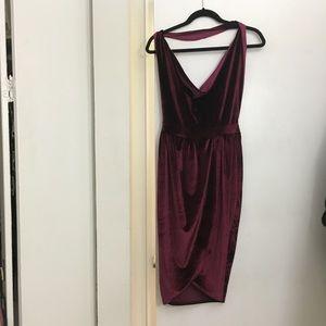 Martin Velvet Backless Dress